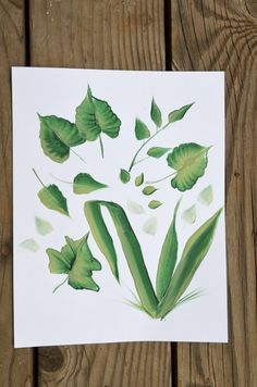 How to Paint Leaves, an easy way to paint them with how to video!