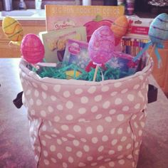 Thirty-One mini utility bin is perfect for an Easter basket and is something your bunnies can use all year.  www.mythirtyone.com/amandashellenbarger