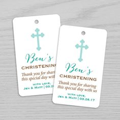 Christening Baptism Gift Favor Tag Favor Tags Gift by BrightPaper