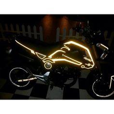 Motocross Bikes, Honda Motorcycles, Vintage Motorcycles, Sport Bikes, Motorcycle Stickers, Bike Stickers, Honda Grom Custom, Grom Bike, Tron Evolution