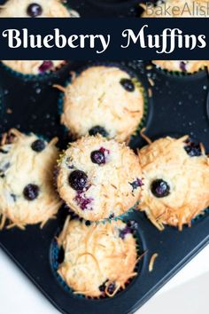 Oat Muffins Healthy, Homemade Blueberry Muffins, Lemon Muffins, Desserts For A Crowd, Easy Desserts, Dessert Recipes, Homemade Breakfast, Best Breakfast Recipes, Recipe Maker