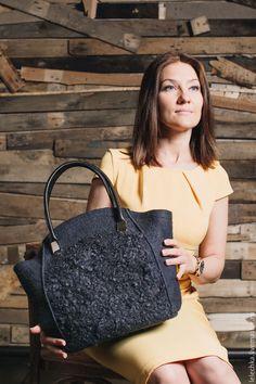 """Купить Сумка """"Графитовый шик"""" - сумка ручной работы, сумка, сумка женская, сумка с декором"""