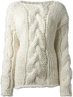 Ivan Grundahl 'mammoth' Cable Knit Sweater - - Farfetch.com