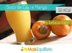 Que tal refrescar sua manhã com um suco de caju com manga? http://maisequilibrio.com.br/suco-de-caju-e-manga-8-2-7-782.html