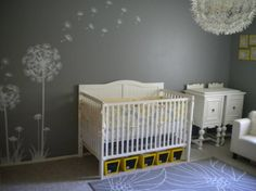 nursery ideas with gray | baby girls sunny nursery - Nursery Designs - Decorating Ideas - HGTV ...