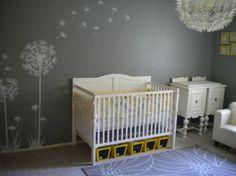 nursery ideas with gray   baby girls sunny nursery - Nursery Designs - Decorating Ideas - HGTV ...