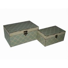 Cheung's 2 Piece Clover Treasure Box Set Color: Blue and White