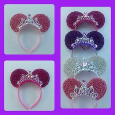 Brand New Style Shimmer Tiara Minnie Mouse ear Headband by LITTLETREASURE4U on Etsy