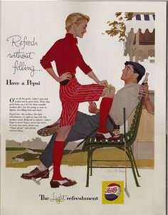 im a big fan of 50s image of ads in the 50s
