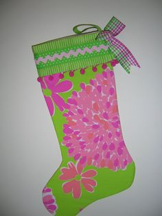 A Lilly-esque stocking? yes please!