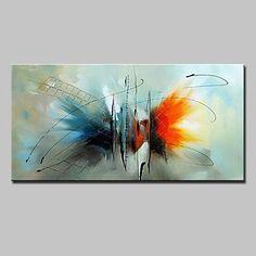 Peint à la main Abstrait Animal Horizontale,Moderne Style européen Un Panneau Toile Peinture à l'huile Hang-peint For Décoration de 5544307 2017 à $50.99