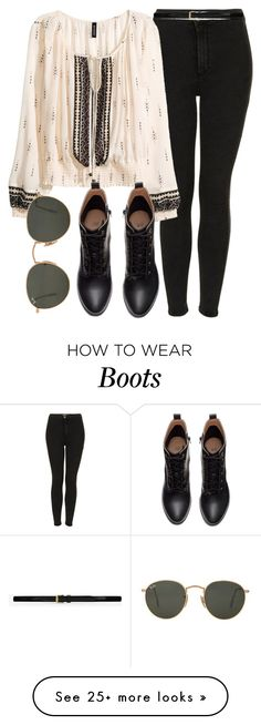 """Untitled #5192"" by laurenmboot on Polyvore featuring Topshop, H&M, Ray-Ban, Yves Saint Laurent, women's clothing, women, female, woman, misses and juniors"