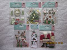 Christmas Dimensional Stickers from Jolee's Boutique and Jolee's By You: Snowmen, Christmas Trees, Gingerbread Houses, Stockings, Santa Suit by WhimseysByAnne, $7.00