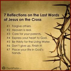 Reflections on Jesus' Seven Last