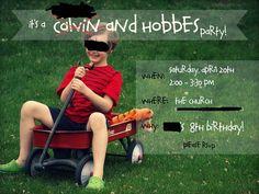 Calvin & Hobbes birthday party ideas