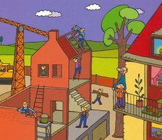 jules kijkt naar een bouwwerf School Themes, Cute Pictures, Clip Art, Dozen, Building, Travel, Om, Google, Ideas
