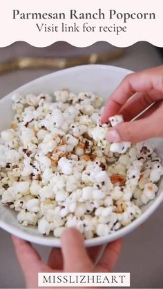 Click this video for recipe! ✨🤍 You will never have popcorn the same after this! A delicious mix of parmesan and creamy ranch will make this an unbeatable flavor blast! I cant wait for you to try it!