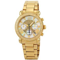 "nice JBW Women's JB-6210-160-I ""Victory"" 1.5 Carats Diamond Chronograph Watch"