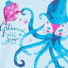 Tee-Shirt Pieuvre Bleu ciel en soldes sur Catimini