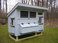 The next coop. Very similar to the one I already have, but includes storage space. FCBM's will go in this one.