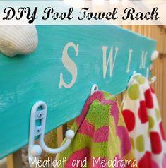 diy pool towel rack