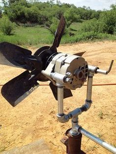 Turn a car alternator into alternative energy by building this cheap and easy homemade wind generator. #renewableenergy