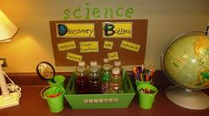 LOVE this idea for a science station