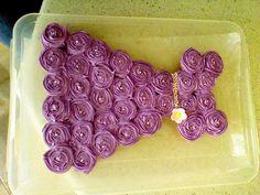 Purple princess cupcake dress for a royal birthday party
