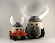 Vikings. This would be a funny way to decorate an egg.