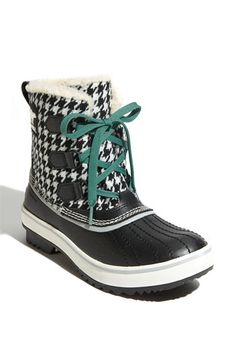 Sorel Tivoli Waterbroof Boot Black/White Houndstooth... Snow! $109.95