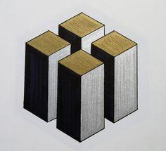 Art journal taking a new direction towards geometric shapes! Wood Wall Art, Wall Art Decor, Basic Sketching, Solid Geometry, Isometric Drawing, Concrete Art, Beautiful Rangoli Designs, 3d Drawings, Creative Memories