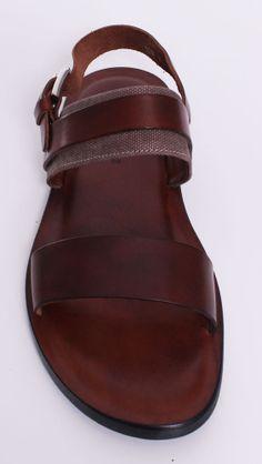 Donald J. Pliner SATORI Men's Leather Sandal in Tan 10 #DonaldJPliner #LoafersSlipOns