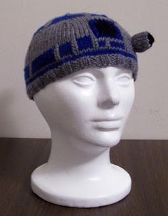 Links to pattern, also in Ravelry  Carissa Knits: R2D2 Beanie free pattern linked.