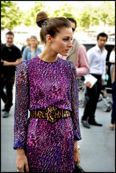 Leopard Print Mix #Fashion #olivia #palermo #style