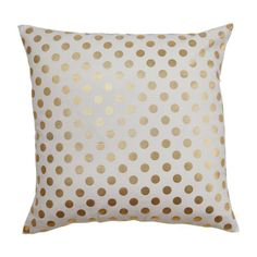Kate Spade Inspired Gold Polka Dot Accent/Throw Pillow