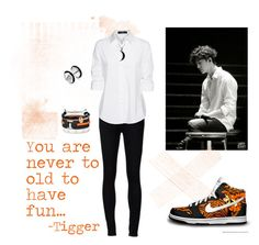 """Yongguk Tigger"" by vinne on Polyvore featuring Ström, Steffen Schraut, Carolina Glamour Collection, Cartier, Bling Jewelry, Domo Beads, blackandwhite, kpop, Tigger and YongGuk"