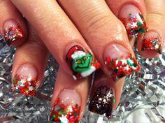 Grinch nails