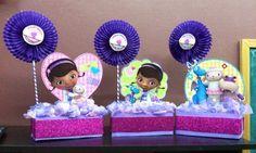 Centros de mesa doctora juguetes