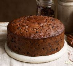 Buttered rum Christmas cake