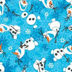 Disney Frozen Olaf Winter Snowflakes Flannel