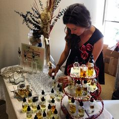 Make-your-own fragrance bar at #BWRstyle event in #LA