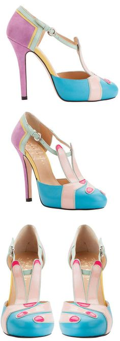 Shoe of the Day | Minna Parikka 'Peace' multicoloured high heel shoes >
