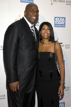 "Magic Johnson and His Wife   Magic Johnson Former NBA legend Earvin ""Magic"" Johnson and his wife ..."