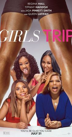When four lifelong friends: Regina Hall, Queen Latifah, Jada Pinkett Smith and Tiffany Haddish - travel to New Orleans for the annual Essence Festival, sisterhoods are rekindled, wild sides are Jada Pinkett Smith, Queen Latifah, Films Hd, Comedy Movies, Hindi Movies, Comedy Actors, Hd Movies Online, Tv Series Online, New Movies