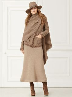 Maria Wool-Cashmere Jacket - Collection Apparel Jackets - Taupe MultiRalphLauren.com