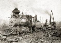 lumber Trains | TEMPLE LUMBER COMPANY ENGINE 6 | Trains, trains, trains!!