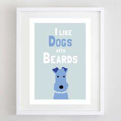 Hund-Kunstdruck Terrier Print Tierliebhaber von ForeverFoxed