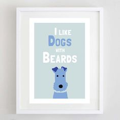 Dog Art Print Terrier Print Pet Lover Gift by ForeverFoxed, £18.50