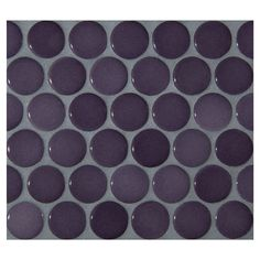 "Complete Tile Collection Penny Round Mosaic - Evening Violet - Gloss, 1"" Round Glazed Porcelain Penny Mosaic Tile, Anti-Microbial, Anti-Odor, Anti-Staining Technology, MI#: 063-Z1-250-056, Color: Evening Violet"