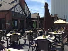 lunch on the patio of the harp.